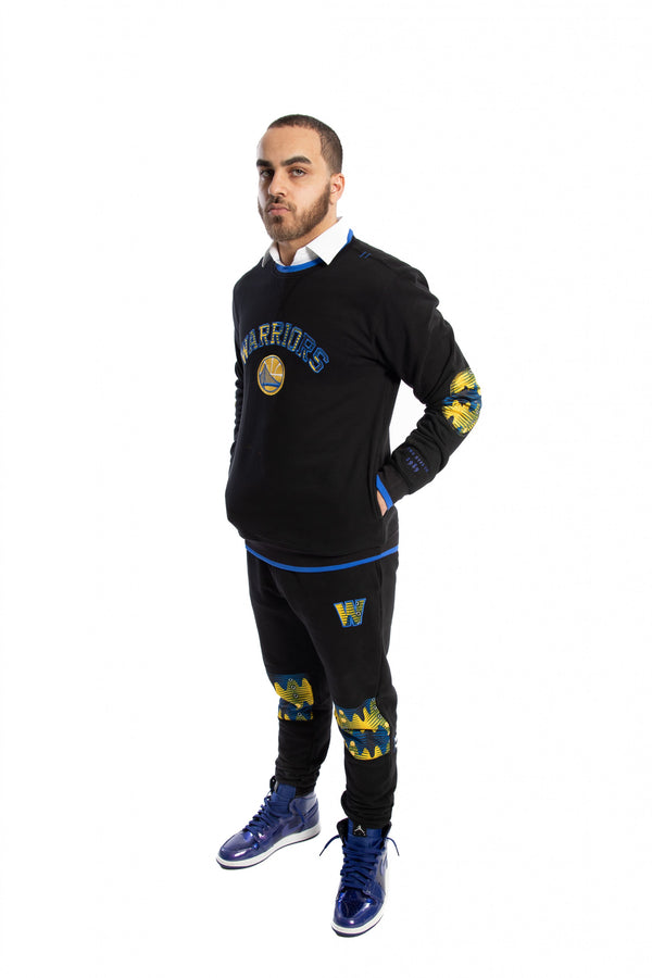 Golden State Warriors Kente Elbow Patch Crew