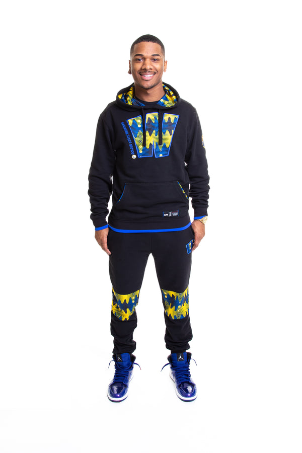 Golden State Warriors 90's Kente Team Letter Hoodie