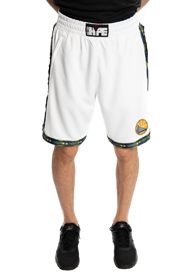 Golden State Warriors Kente Dunk Short White