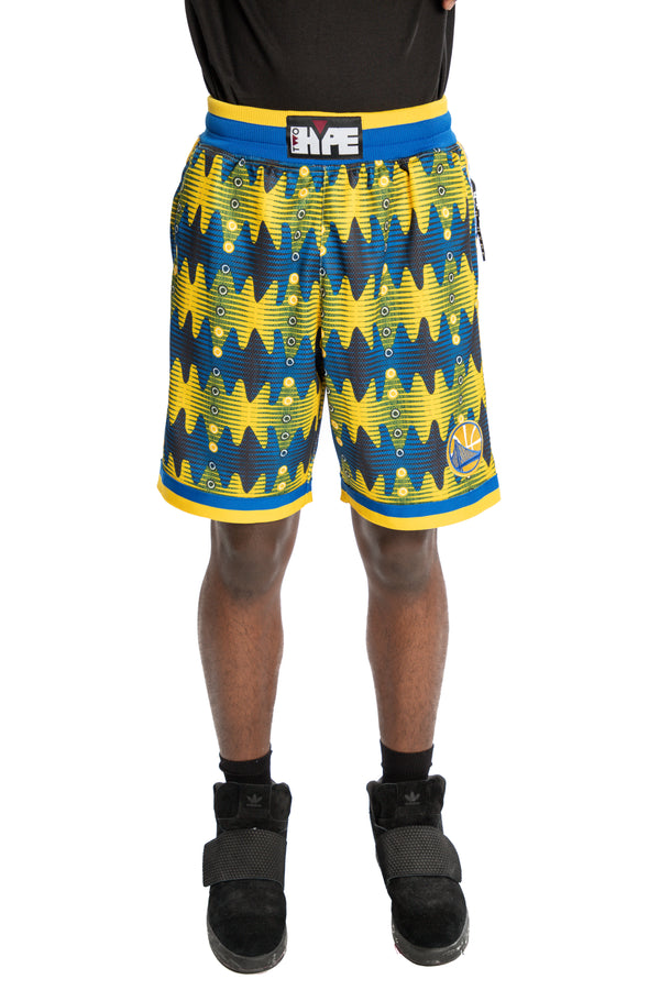 Golden State Warriors Kente Basketball Shorts