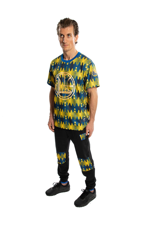 Golden State Warriors Team Kente Print Performance T-Shirt