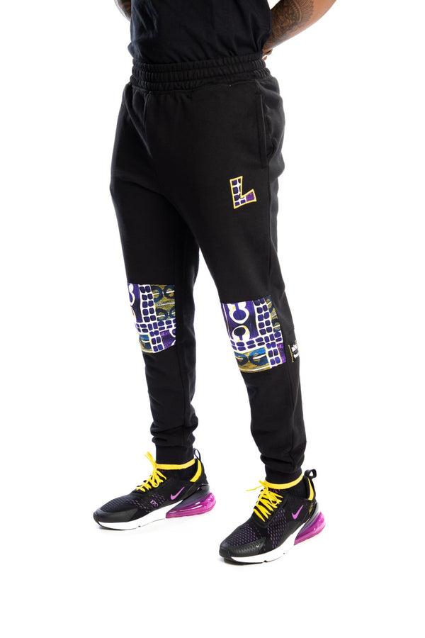Los Angeles Lakers Kente Knee Patch Pant