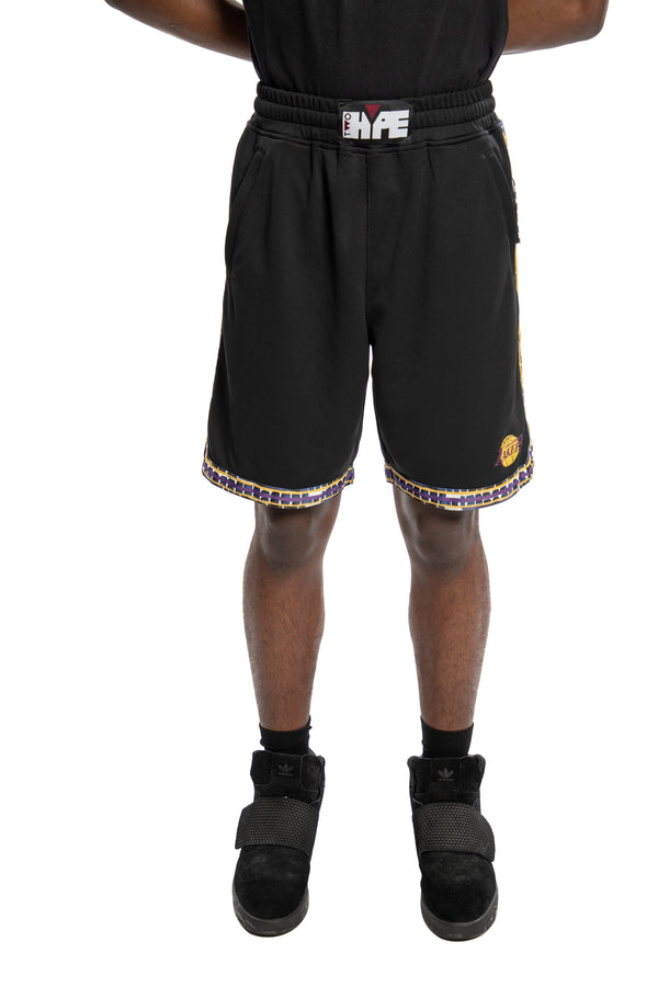 Los Angeles Lakers Kente Dunk Short Black