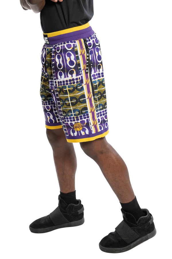 Los Angeles Lakers Kente Basketball Shorts