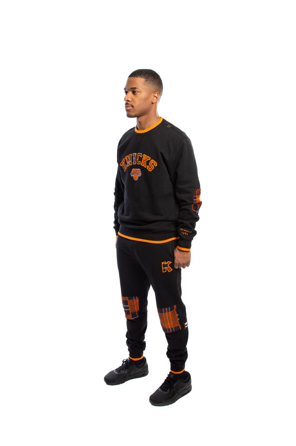 New York Knicks Kente Elbow Patch Crew