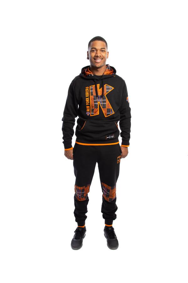 New York Knicks 90's Kente Team Letter Hoodie