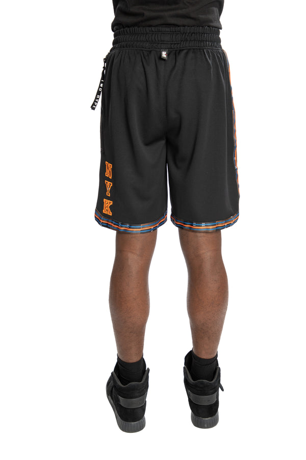 New York Knicks Kente Dunk Short Black
