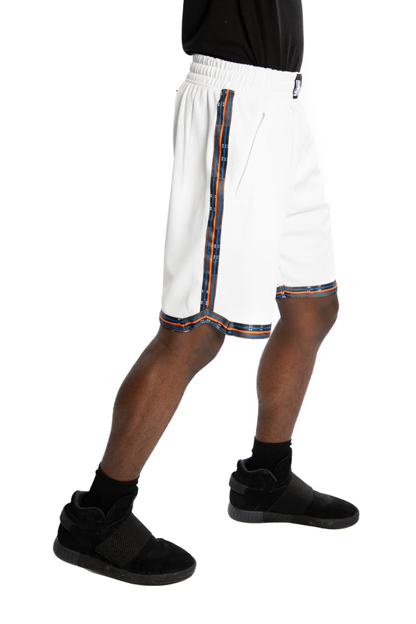 New York Knicks Kente Dunk Short White