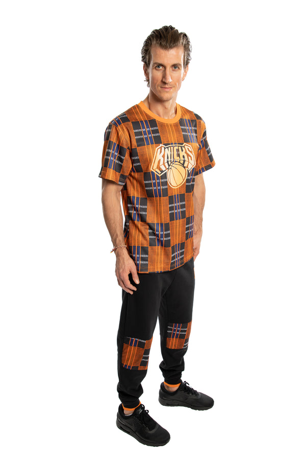New York Knicks Team Kente Print Performance T-Shirt