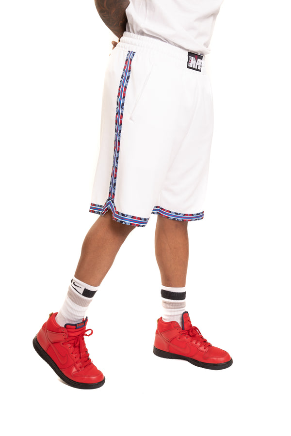 Philadelphia 76'ers Kente Dunk Shorts White