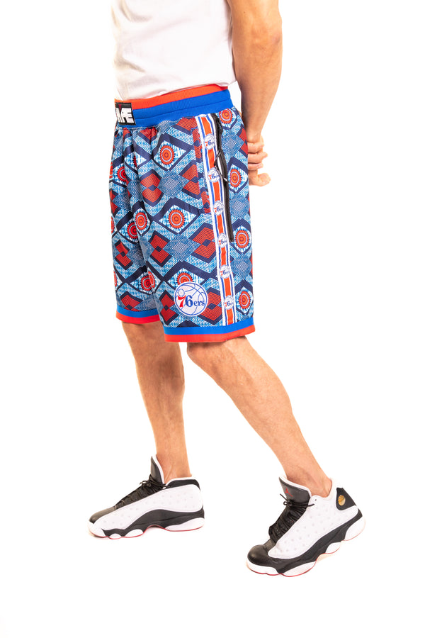 Philadelphia 76'ers Kente Basketball Shorts