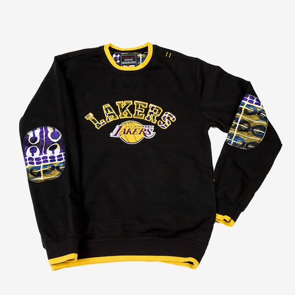 Los Angeles Lakers Kente Elbow Patch Crew