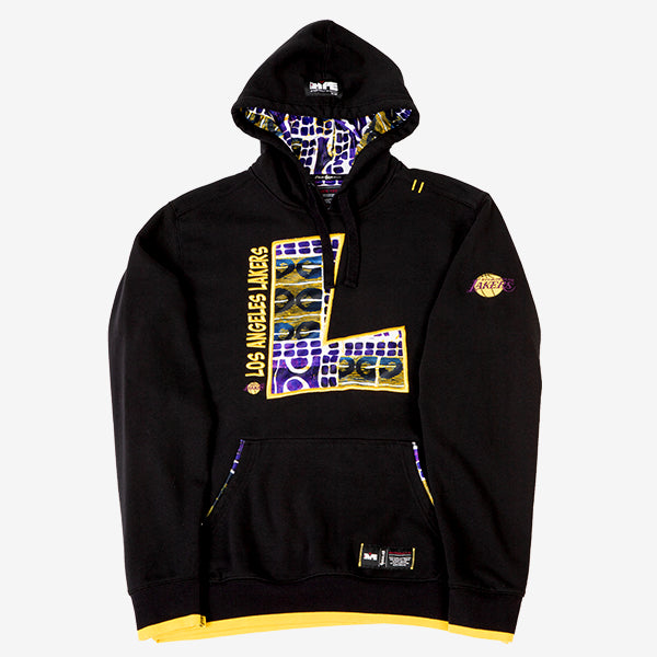 Los Angeles Lakers Kente Letter Hoodie