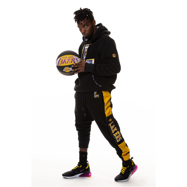 Los Angeles Lakers 90's Kente Team Letter Hoodie