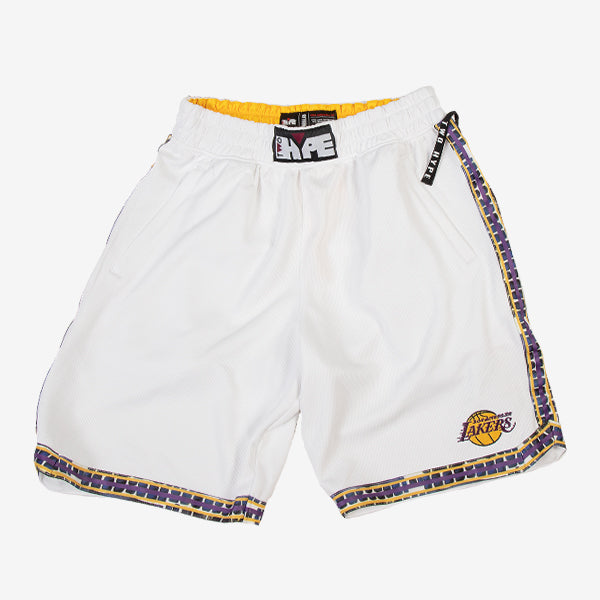 Los Angeles Lakers Kente Dunk Short White