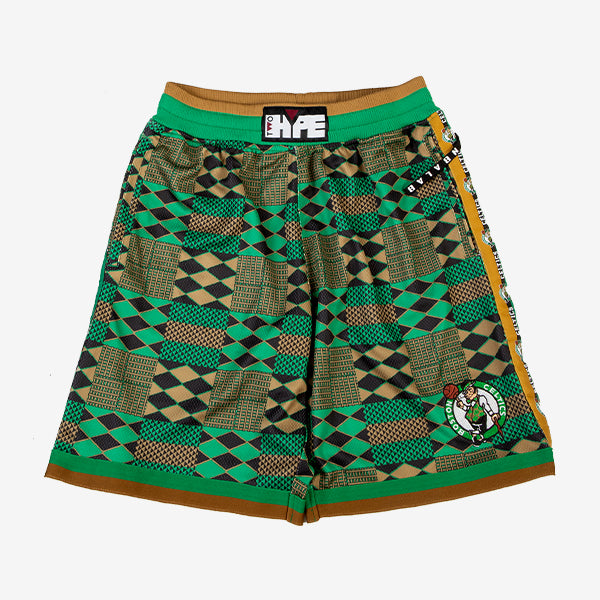 Boston Celtics Kente Basketball Shorts