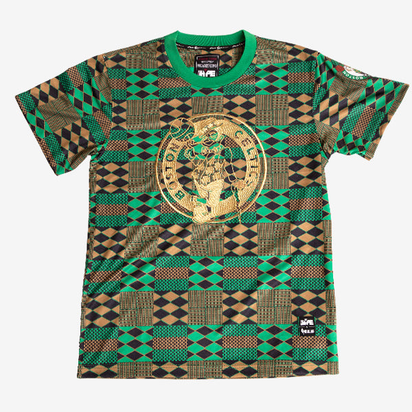Boston Celtics Team Kente Print Performance T-Shirt