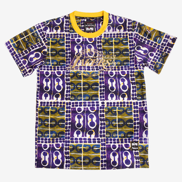 Los Angeles Lakers Team Kente Print Performance T-Shirt