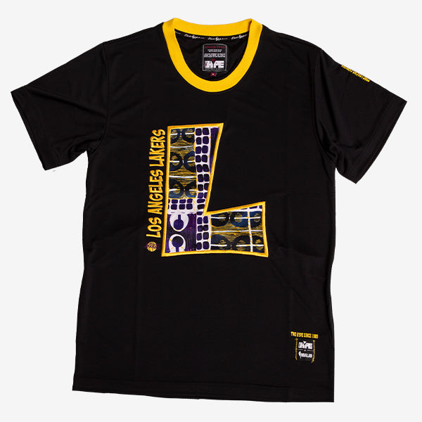 Los Angeles Lakers 90's Kente Team Letter Performance T-Shirt