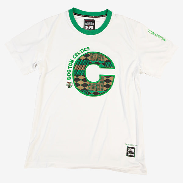 Boston Celtics 90's Kente Team Letter Performance T-Shirt