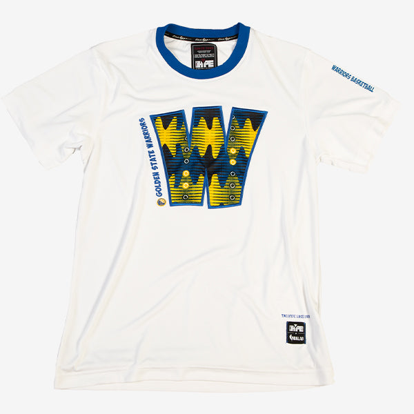 Golden State Warriors 90's Kente Team Letter Performance T-Shirt White