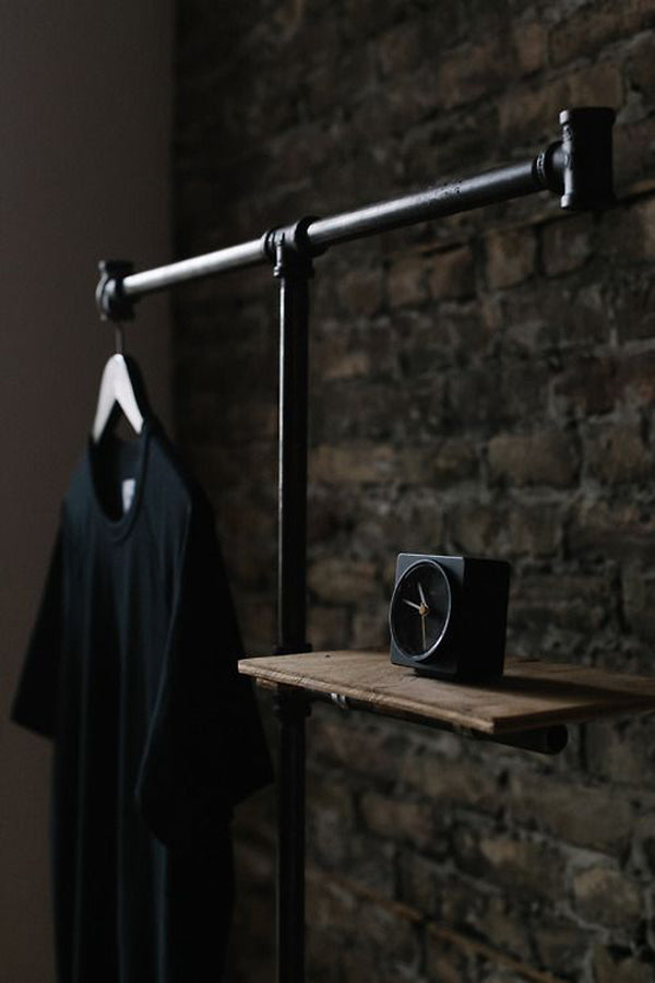 25 Industrial DIY Clothes Rack Ideas For Man Cave