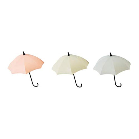 Quaanti Umbrella Wall Hook 3pcs/Set Cute Umbrella Wall Mount Key Holder Wall Hook Hanger Organizer Durable Key Holder (B)