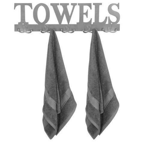 Towels Sign Mounted Hanger Rack