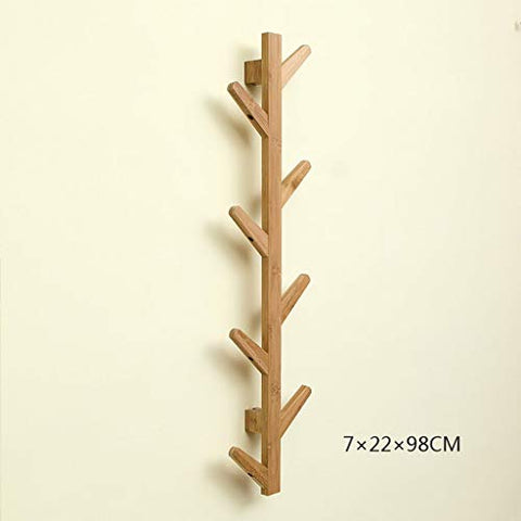 Coat Racks Modern DIY Entryway Wooden Clothing Rack Stand Hat Scarves Corner Hall Umbrella Tree for Bedroom Living Room Office Storage Rack,Natural,8Hook