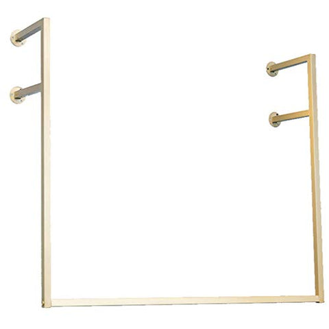 COAT RACK Wall Clothing Rack, Gold Wrought Iron Side Hanging Clothes Hanger, Multi-Size Selection