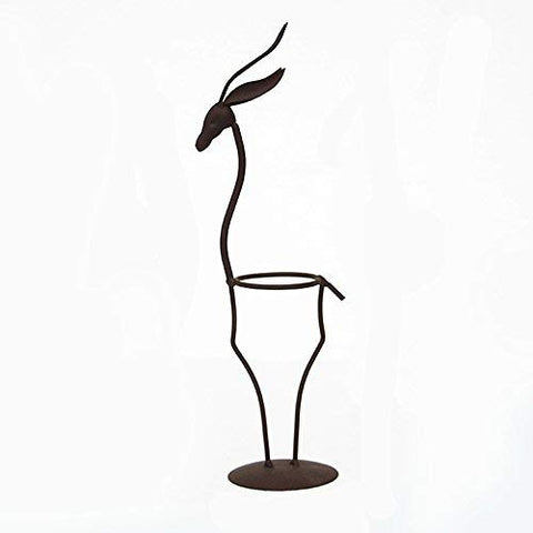 Awesomes Ornament Deer-Shaped Iron Display Stand/Classic Planter Flower Pot Stand Holder Iron Pothook Stand for Hanging Glass Terrarium (Deer)