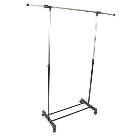 zhihuitong Single-Bar Vertical Garment Racks Stretching Stand Clothes Rack with Shoe Shelf for Home Office Bedroom