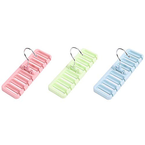 Zhao Xiemao 8-Hole Tie Belt Storage Rack Multi-Function Belt Hanger, Color Selection, 3 Pcs.