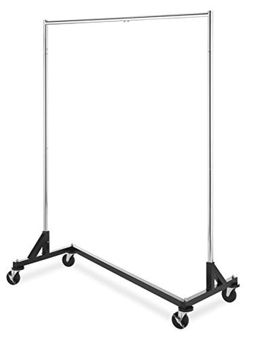 Whitmor Commercial Garment Z-Rack - Silver / Black