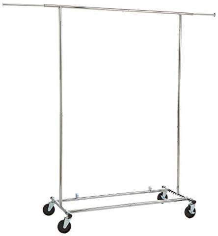AmazonBasics Garment Rack - Chrome(Renewed)