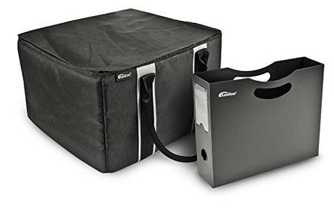 AutoExec AETote-03 Black/Grey File Tote with One Hanging File Holder
