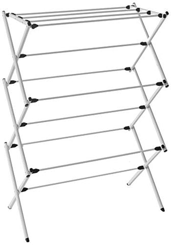 Homz Foldable, Steel Frame, Rustproof, 23 ft Space Clothes Drying Rack