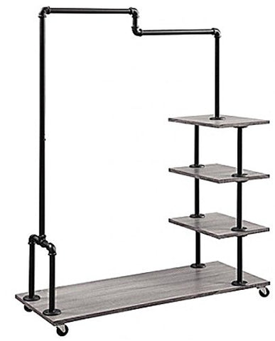 Generic Metal Hanging Bar helf Meta Storage Organizer Home Shelf Met Home Shelf Metal r Hanging Ba Rolling Caster ing Caster Garment Rack Rolling Caster