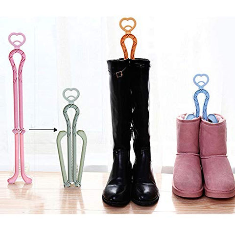 wonuu 4Pcs Plastic Long Boots Shaper Stretcher Shoes Supporter Stand Holder Hanger Boots Knee Boot Rack