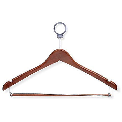 Honey-Can-Do HNG-01736 Hotel Suit Hangers- Locking Bar, Cherry, 24-Pack