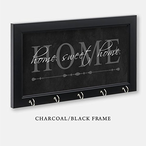 Home Sweet Home Key Holder, Charcoal Color