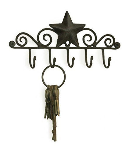 1 X Star Key Rack Holder in Black