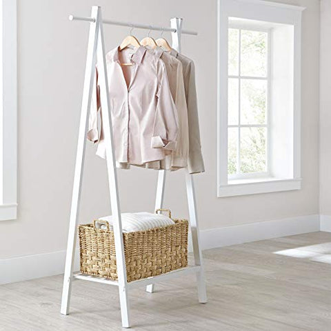 BrylaneHome Mia Metal Garment Rack - White