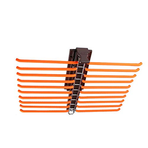 FKhanger Wardrobe Hanger Rail Pull Out Trousers Rack, Pants Holder Damping Rail, Tie Rack (20 Pairs)
