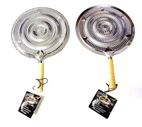 2 Pack Flame Tamer Stovetop Simmer Ring Aluminum Heat Diffuser Gas Electric Range