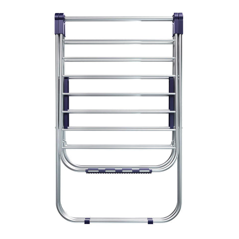 SONGMICS Stainless Steel Clothes Drying Rack, Bonus Sock Clips, Foldable for Easy Storage, Gullwing Space-Saving Laundry Rack ULLR52BU