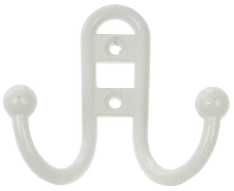 Dorman Hardware 4-1763 One Coat Hook Hoop Double, White