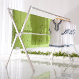 NON ROCK Stainless Steel Laundry Drying Rack Free Installed,Expandable,oldable Space Saving,55-95 Inch,Heavy Duty