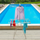 Everyday Home Stainless Steel Indoor/Outdoor Folding Drying Rack