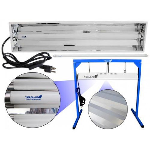 Yield Lab Complete 24 Watt T5 Fluorescent Kit (6400K for Veg/Clone)